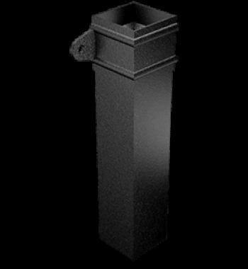 Aluminium Downpipe-Square Cast Eared Collar Length