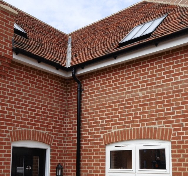 Danbury Palace Case Study - Legacy Half Round Aluminium Gutters and Colonnade Swept Offsets 2