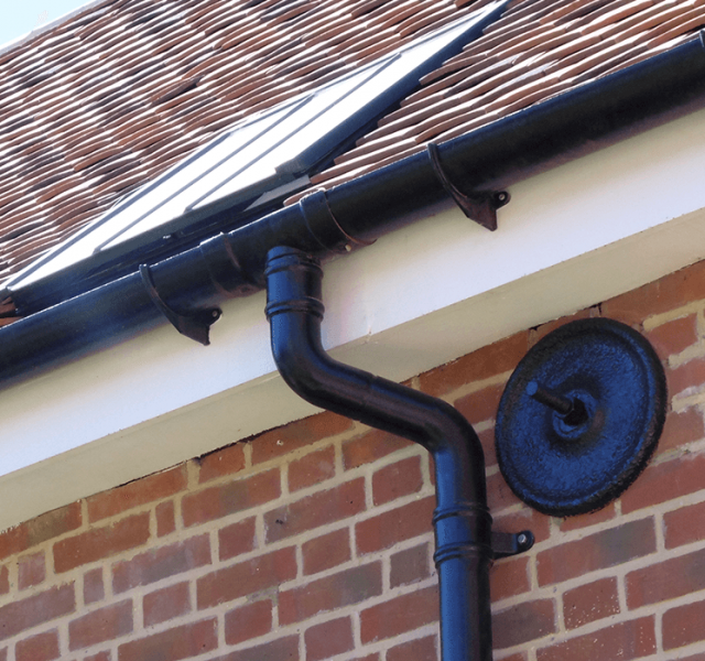 Danbury Palace Case Study - Legacy Half Round Aluminium Gutters and Colonnade Swept Offsets