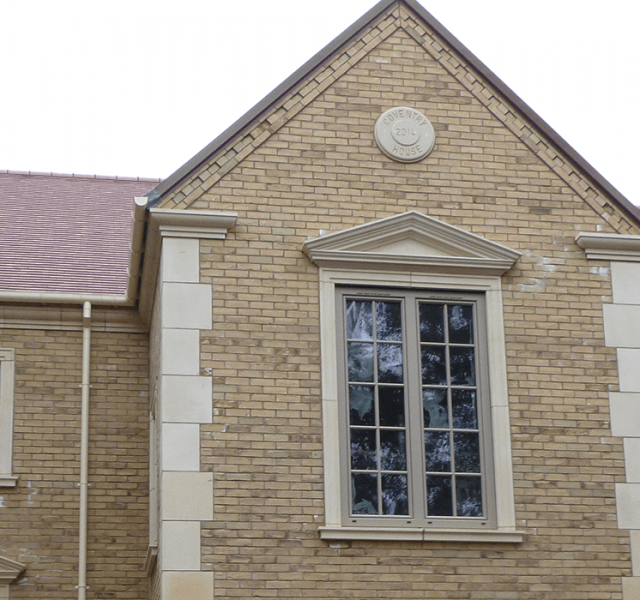 Case Study Self Build Claybrooke Magna - Sentinel Deepflow Gutter and Colonnade Downpipes