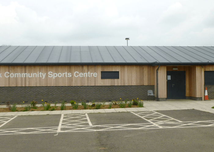 Crick Community Sports Centre - Sentinel Gutter & Colonnade Downpipes