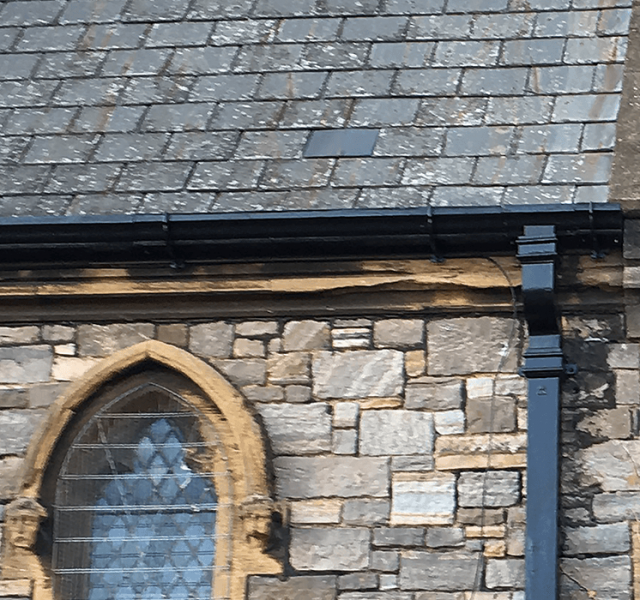 Case-Study---St Michaels All Angels Church---Britannia-Moulded-Ogee-and-Rectangular-Downpipes-1