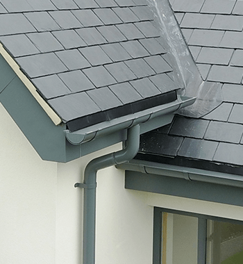 Sentinel Half Round gutter and Colonnade Circular Downpipe