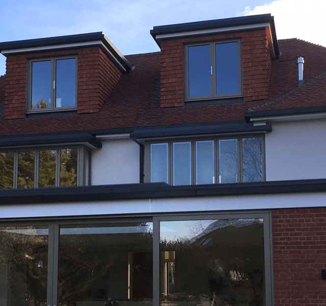Sevenoak - Legion Curved Box Gutter with Colonnade Flushjoint Square Downpipes 1